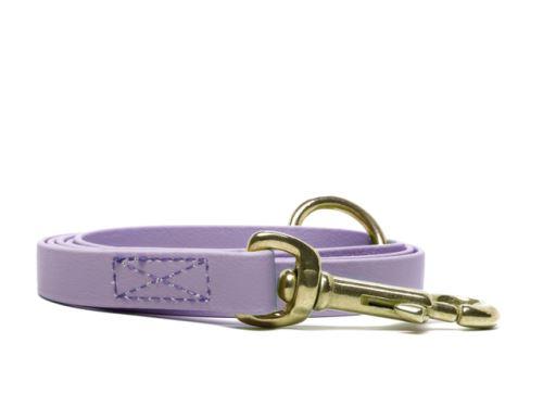 Biothane_leash_16_19mm_sewn_pastel_purple_brass_snap_hook_small_web