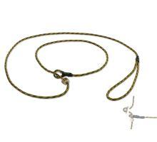 Mystique® Field trial moxon leash 4mm 130cm hunter green/orange with hornstop