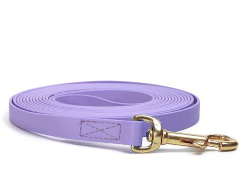 Biothane_tracking_leash_sewn_pastel_purple_brass_snap_hook_small_web