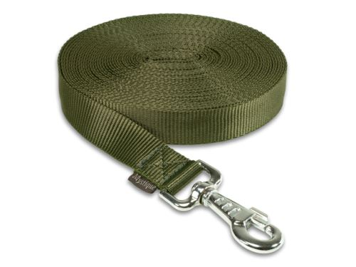 Tracking leash nylon khaki 25mm