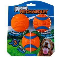 Chuckit Medley Medium - Set Fetch, Ultra and Rugged Ball 6,5cm