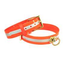 Mystique® Biothane blood tracking collar 38mm reflex orange gold