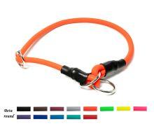 Mystique® Biothane Halsband rund mit Zugbegrenzung 8mm