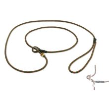 Mystique® Field trial Moxonleine 4mm 130cm hunter grün/rot mit Zugbegrenzung