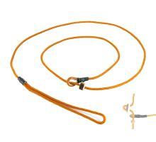 Mystique® Field trial moxon leash 4mm 130cm orange with hornstop