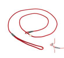 Mystique® Field trial moxon leash 4mm 130cm red with hornstop
