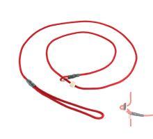 Mystique® Field trial Moxonleine 4mm 130cm rot mit Zugbegrenzung