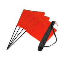 "Mystique® ""Square Flag"" set orange 4pcs. + bag"