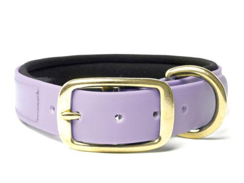 Biothane_collar_deluxe_brass_neopren_pastel_purple_small_web