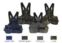 Mystique® Dummy vesta Trainer námorná modrá, lovecká zelená, tmavo šedá a kamufláž