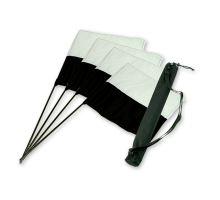 """Mystique® """"Marking Flag"""" Set schwarz/weiß 4 Stk. + Tasche"""