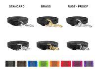 Neue Karabinerhaken mit Mystique® Gummierte Leinen